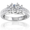 3 Stone Princess Cut Bridal Engagement Ring (1.00 ctw)