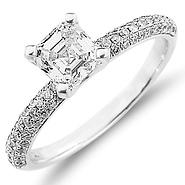 Engagement Rings Asscher Cut at GoldenMine.com
