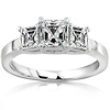 3 Stone Asscher Cut Engagement Ring (1.00 ctw)