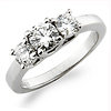 Platinum 3 Stone Diamond Engagement Ring
