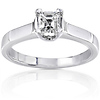 Solitaire 14K Asscher Cut Diamond Engagement Ring (0.50 ctw)
