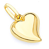 14K Medium Floating Heart Charm