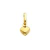 Small 14K Yellow Gold Heart Pendant