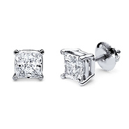 princess cut diamond studs