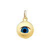 Small Evil Eye 14K Yellow Gold Charm Pendant