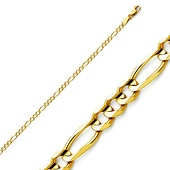 2.5mm 14K Yellow Gold Figaro Chain