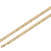 14K Yellow Gold Concave Curb Chain 6mm