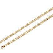 14K Yellow Gold Concave Curb Chain 5mm