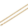 5mm Yellow Pave Curb Cuban 14K Gold Chain