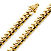Men's 9.5mm 14K Yellow Gold Miami Cuban Link Chain