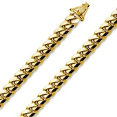 Men's 14K Yellow Gold Miami Cuban Link Chain Necklace 8.5mm (24-26in)