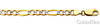 5mm 14K Two Tone Gold White Pave Figaro Chain