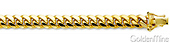 14K Yellow Gold Miami Cuban Link Chain Necklace 7mm