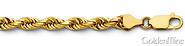 4mm Diamond Cut Rope Chain