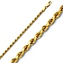 2.5mm Diamond Cut Rope 14K Yellow Gold Chain