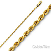 1mm 14K Gold Diamond Cut Rope Chain