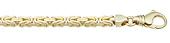 4.5mm 14K Yellow Gold Byzantine Chain