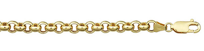 rolo link gold chain