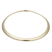 8mm Domed Omega Necklace in 14K Yellow Gold