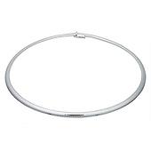 5mm Domed Omega Necklace