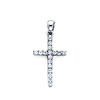 18K White Gold Diamond Cross Pendant (0.12 ctw)