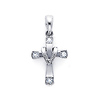 Fancy 14K White Gold Diamond Cross Pendant