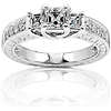 Three-Stone Asscher Cut Engagement Ring (0.98 ctw)