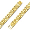 Men's 10mm Nugget 14K Yellow Gold Bracelet
