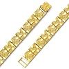 Men's 10mm Nugget 14K Yellow Gold Bracelet