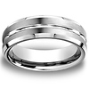 Designer Satin 18K White Gold Wedding Band