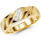 14K Yellow Gold Princess CZ Designer Ring