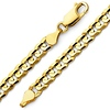 Men's 14K Yellow Gold Concave Curb Chain Necklace for Men 8mm