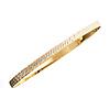14K Tri-Color Gold Bangle Bracelet