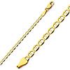3mm Flat Mariner Gold Bracelet