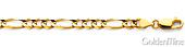 5mm 14K Yellow Gold Chain Figaro Bracelet