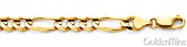 7mm Men's Figaro 18K Yellow Gold Chain Necklace