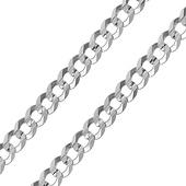 10mm Sterling Silver Men's Curb Cuban Link Chain Bracelet