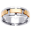 14K Two Tone Designer Wedding Band