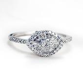 Couture Evil Eye Round & Baguette Diamond Ring - 14K White Gold