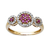 Ruby and Diamond Circle Ring