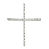 14K Gold Large Slender Diamond Cross Pendant