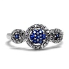 Diamond and Sapphire Circle Ring