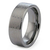 Tribal Laser Engraved Tungsten Wedding Band