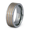 Four Row Tungsten Gold Plated Wedding Ring