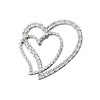 14K Gold Double Diamond Heart Charm (.55ctw)