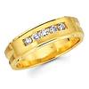 14K Yellow Gold Ladies 0.21ctw Round Diamond Channel Set Ring