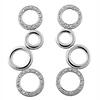 Twinkling Loop CZ Sterling Silver Dangle Earrings