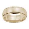 8mm Milgrain Comfort Fit 14K Yellow Gold Benchmark Ring