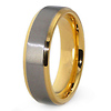 6.5mm Titanium Gold Plated Wedding Band