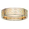 6mm 14K Yellow Gold Greek Key Comfort Fit Ring